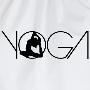 Text woman logo Yoga exercise T-Shirts - Drawstring Bag