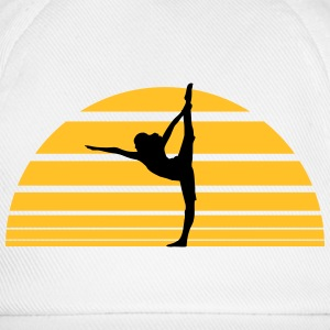 Yoga sunset Sun T-shirts - Basebollkeps