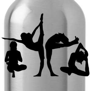 4 women in yoga exercise T-Shirts - Water Bottle