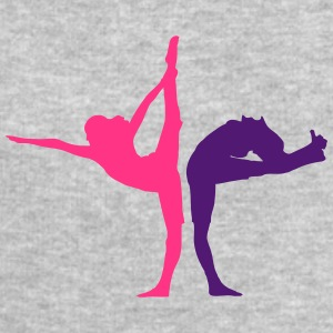 2 women in yoga exercise T-Shirts - Men's Sweatshirt by Stanley & Stella