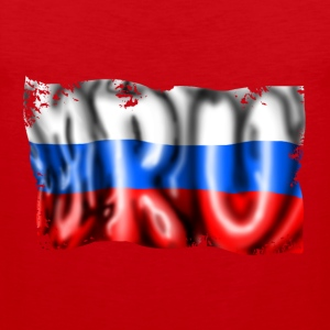 Russian flag T-skjorter - Premium singlet for menn