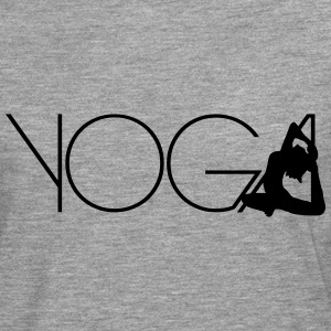 Texte Yoga exercice femmes logo Tee shirts - T-shirt manches longues Premium Homme
