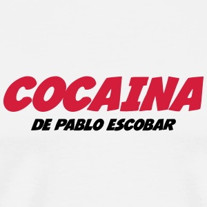 Cocaina de Pablo Escobar Kopper & flasker - Premium T-skjorte for menn