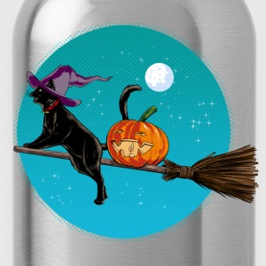 Halloween Witch Cat T-Shirts - Trinkflasche