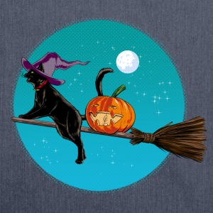Halloween Witch Cat T-Shirts - Schultertasche aus Recycling-Material