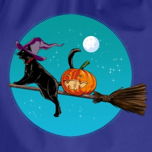 Halloween Witch Cat T-Shirts - Drawstring Bag