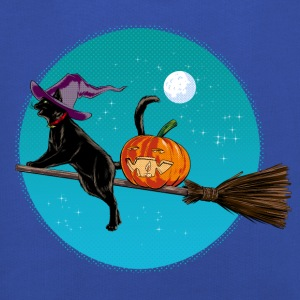 Halloween Witch Cat T-Shirts - Kids' Premium Hoodie