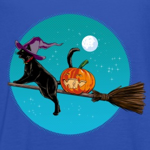 Halloween Witch Cat T-Shirts - Women's Tank Top by Bella