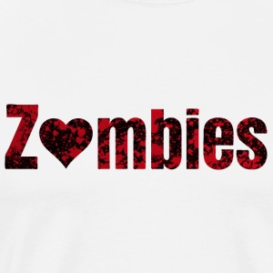 zombies zombier Topper - Premium T-skjorte for menn