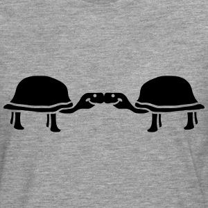 Pair 2 turtles love kiss T-Shirts - Men's Premium Longsleeve Shirt