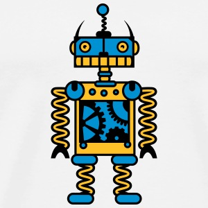 A robot with gear wheels  Other - Men's Premium T-Shirt