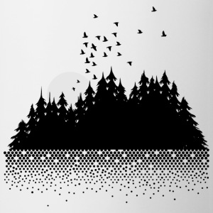Forest, lake, moon and birds  Other - Mug