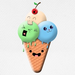 Funny ice cream t shirt - Cappello con visiera