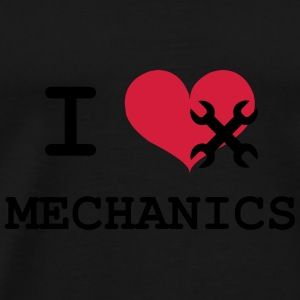 I Love Mechanics Flasker & krus - Herre premium T-shirt