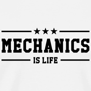 Mechanics is life Caps & Hats - Men's Premium T-Shirt