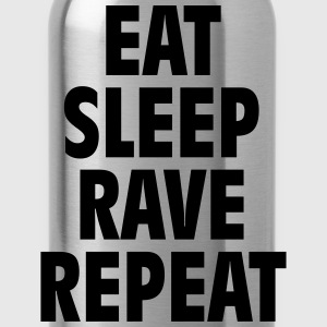 Eat sleep rave repeat Pullover & Hoodies - Trinkflasche