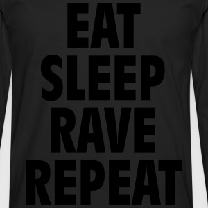 Eat sleep rave repeat Gensere - Premium langermet T-skjorte for menn