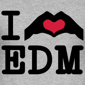 I Love EDM / Hand Heart Tröjor - Slim Fit T-shirt herr
