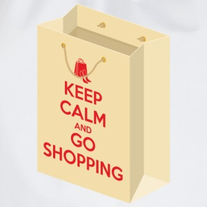 Keep calm and go shopping T-Shirts - Drawstring Bag