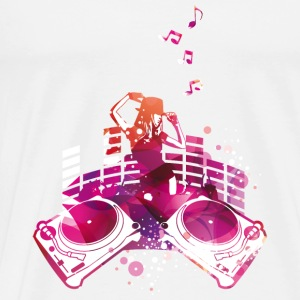 Concert with turntables, rap, electro, equalizer Tops - Men's Premium T-Shirt