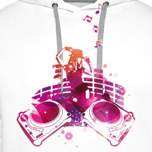 Concert with turntables, rap, electro, equalizer Shirts - Men's Premium Hoodie