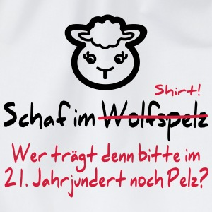 Lustiges Schaf, Anti-Pelz Shirt - Turnbeutel