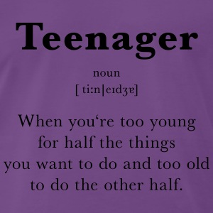 Definition von Teenager - Männer Premium T-Shirt