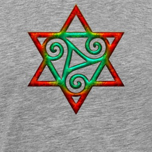 Triskele, hexagram, power of the Trinity, magic Long Sleeve Shirts - Men's Premium T-Shirt
