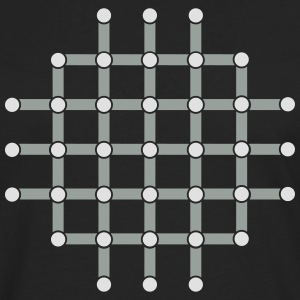 Optical illusion, Find the black dot! T-Shirts - Men's Premium Longsleeve Shirt