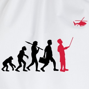 Evolution remote controlled model helicopter T-Shirts - Drawstring Bag