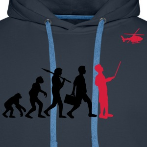 Evolution remote controlled model helicopter T-Shirts - Men's Premium Hoodie
