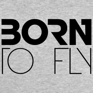 Born to Fly Heli Logo Design T-Shirts - Men's Sweatshirt by Stanley & Stella