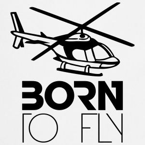Born to Fly Heli Logo T-Shirts - Cooking Apron