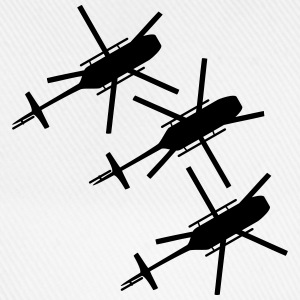 3 helicopters from top view top T-Shirts - Baseball Cap