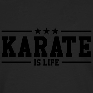 Karate is life Kopper & flasker - Premium langermet T-skjorte for menn