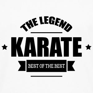 Karate The Legend T-shirts - Herre premium T-shirt med lange ærmer