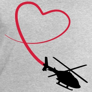 Helicopter Love Heart Looping T-Shirts - Men's Sweatshirt by Stanley & Stella