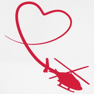 Helicopter Love Heart Looping T-Shirts - Baseball Cap