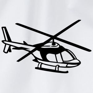 helicopter T-Shirts - Drawstring Bag