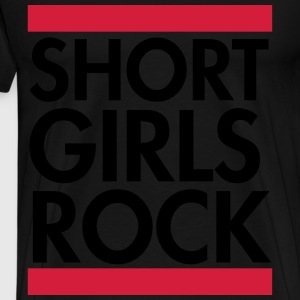 Short girls rock Sweatshirts - Herre premium T-shirt