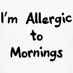 I'm allergic to mornings T-shirts - Herre premium T-shirt med lange ærmer