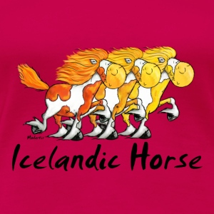 Three Funny Icelandic Horses Long Sleeve Shirts - Women's Premium T-Shirt