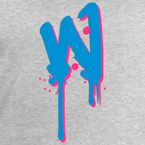 W graffiti drops Farbklex spray T-Shirts - Men's Sweatshirt by Stanley & Stella