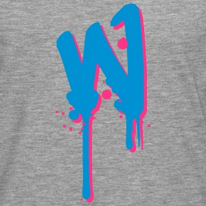 W graffiti drops Farbklex spray T-Shirts - Men's Premium Longsleeve Shirt