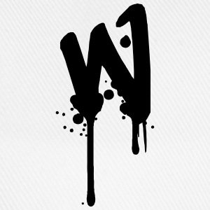 W graffiti drops Farbklex spray T-Shirts - Baseball Cap