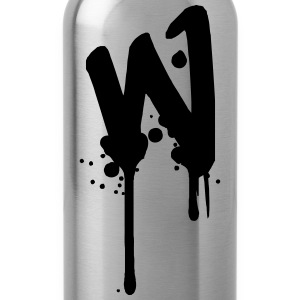 W graffiti drops Farbklex spray T-Shirts - Water Bottle