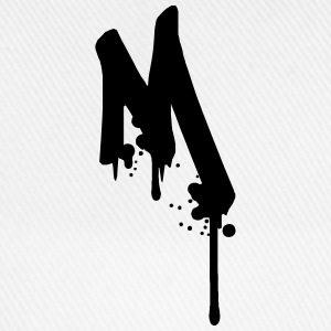 M graffiti drops Farbklex spray T-Shirts - Baseball Cap