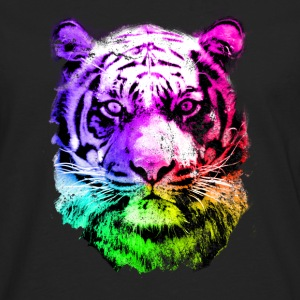 tiger - tigre - big cat - pshycho Sweat-shirts - T-shirt manches longues Premium Homme