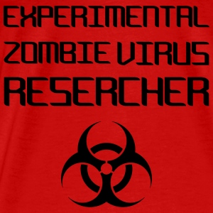 Experimental Zombie Virus Resercher Tops - Men's Premium T-Shirt