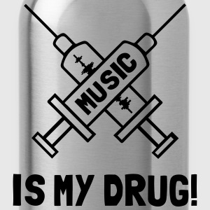 Music Is My Drug - Love Music Tops - Trinkflasche